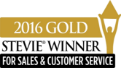 2016 GOLD Stevie Winner For Sales & Customer Service